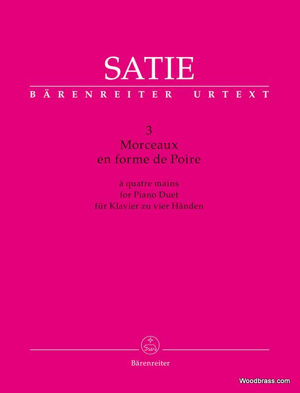 Satie E. - Trois Morceaux En Forme De Poire - Piano 4 Mains