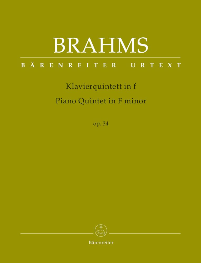 Brahms J. - Piano Quintet In F Minor Op.34 - Score and Parts
