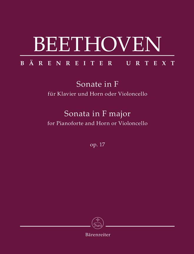 Beethoven L.v. - Sonate In F Major Op.17 - Cor and Piano