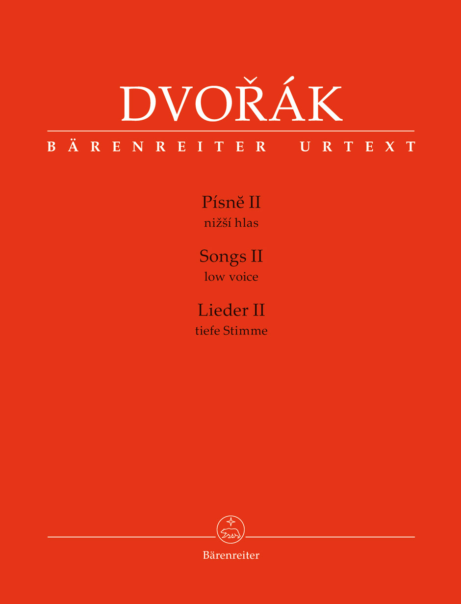 Dvorak A. - Songs Ii - Low Voice and Piano