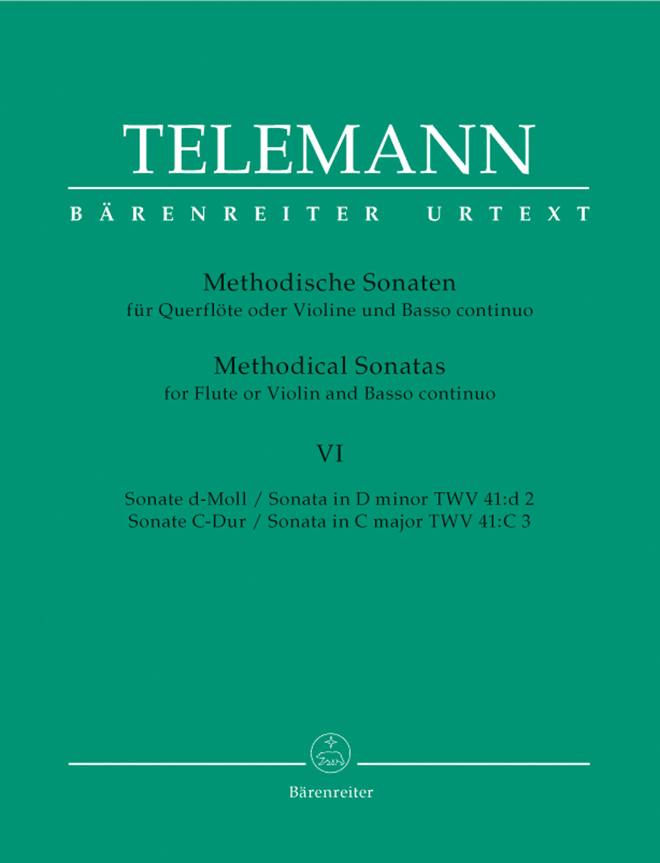 TELEMANN G.P. - 12 METHODICAL SONATAS VOL.6 - FLUTE OR VIOLIN, BASSO CONTINUO
