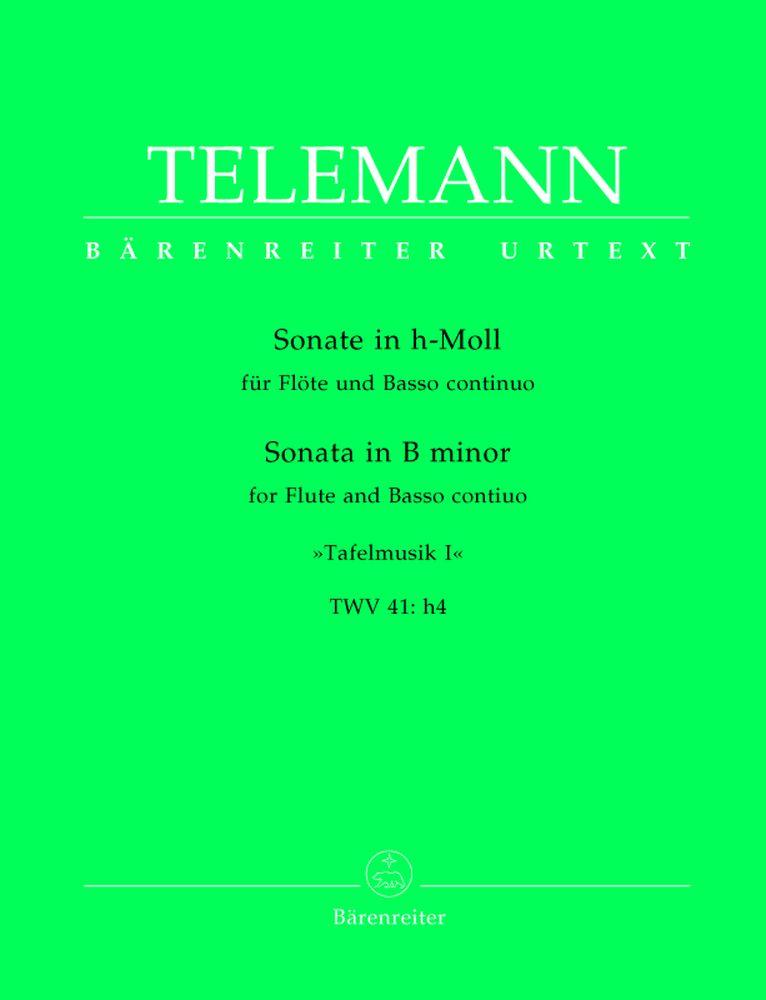 Telemann G.p. - Sonate In H-moll, Tafelmusik I, Twv 41:h4 - Flute, Basse Continue