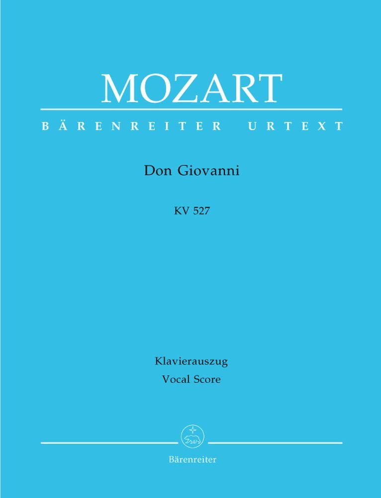 Mozart W.a. - Don Giovanni Kv 527 - Reduction Chant, Piano