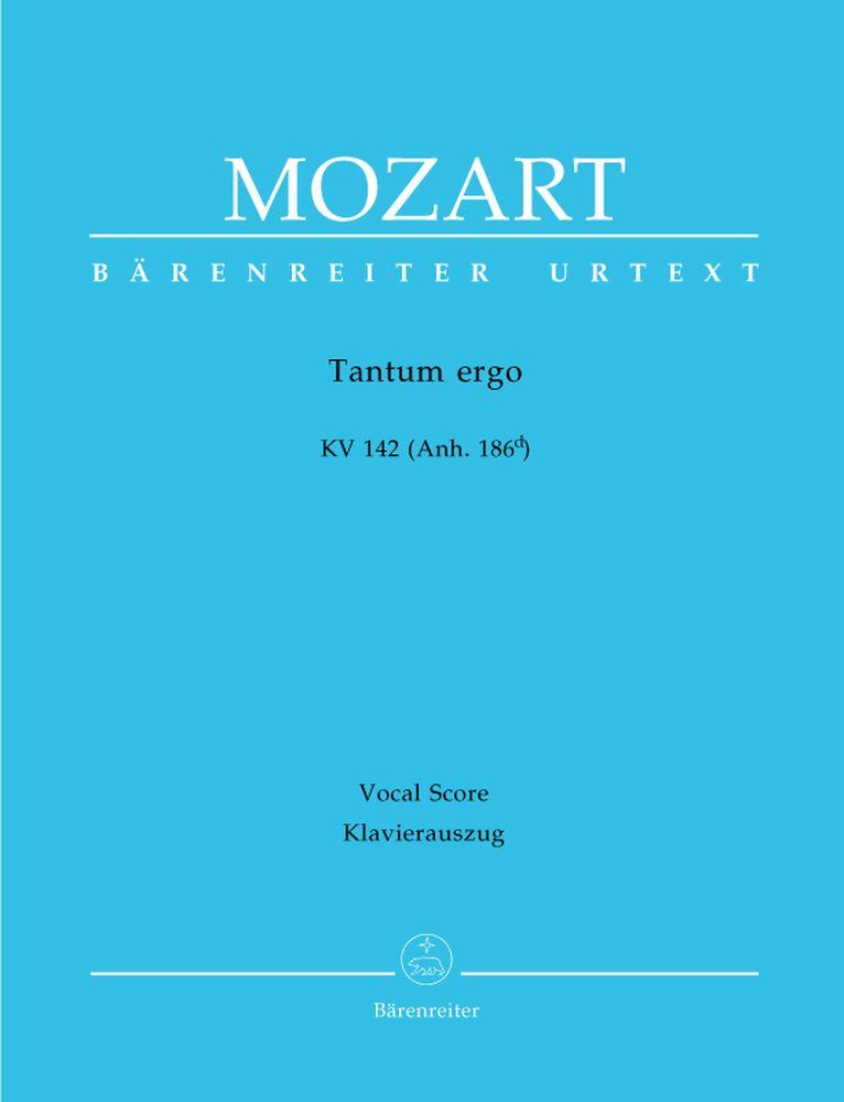 Mozart W.a. - Tantum Ergo Kv 142 (anh. 186d) - Reduction Chant, Piano