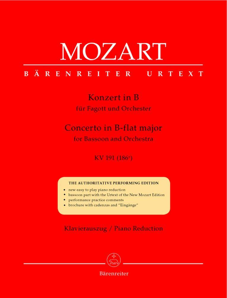Mozart W.a. - Concerto En Sib Majeur Kv 191 - Basson, Piano