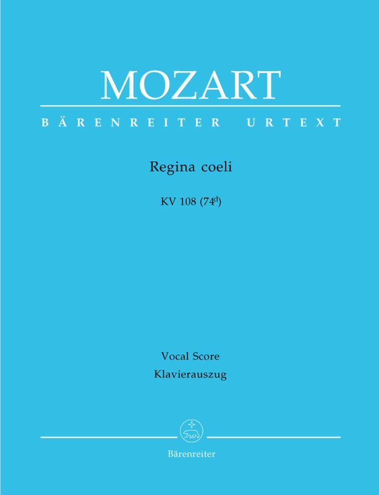 Mozart W.a. - Regina Coeli Kv 108 (74d) - Reduction Chant, Piano
