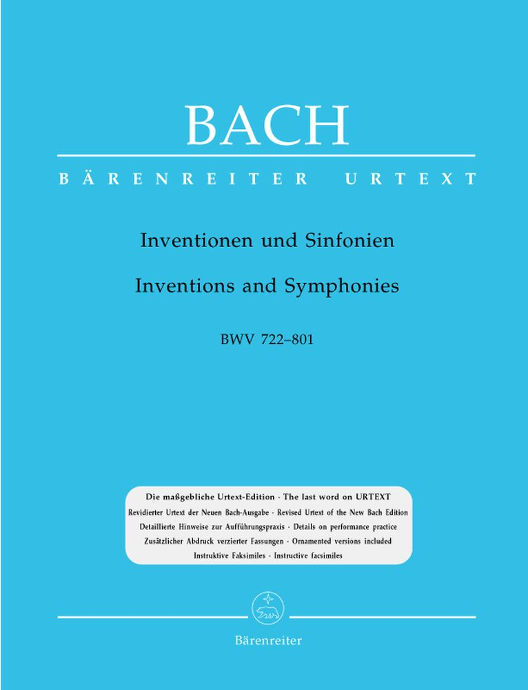 BACH J.S. - INVENTIONS AND SYMPHONIES BWV 772-801 - PIANO