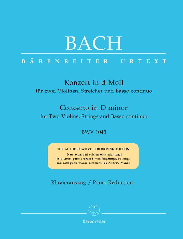 Bach J.s. - Concerto En Re Mineur Bwv 1043 Pour 2 Violons, Cordes Et Basse Continue