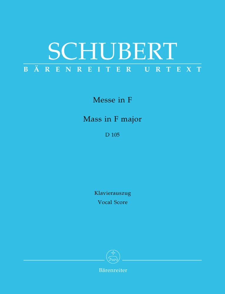 SCHUBERT F. - MASS IN F MAJOR D 105 - VOCAL SCORE