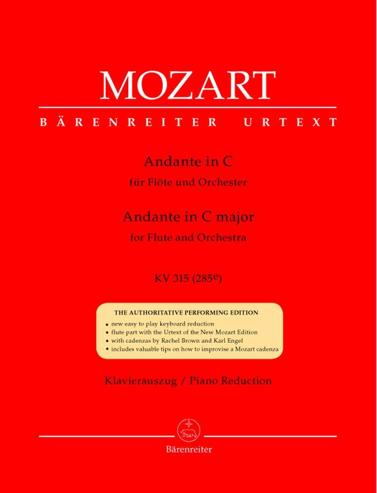 Mozart W.a. - Andante En Do Majeur Kv 315 (285e)  - Flute, Piano