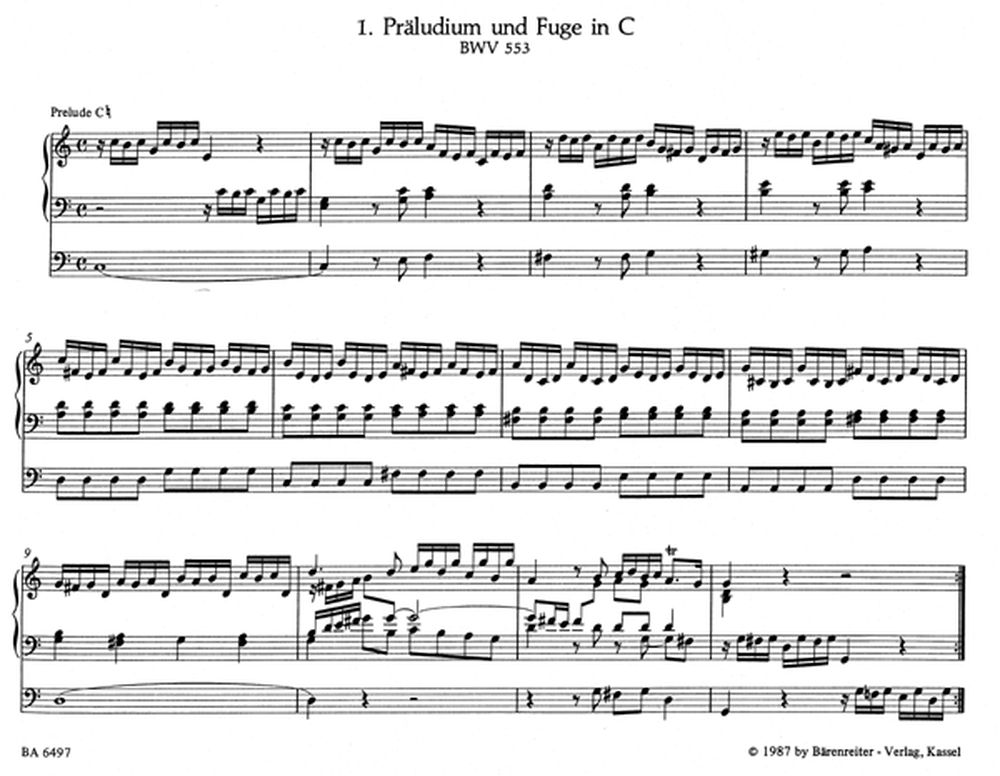 BACH J.S. - EIGHT SHORT PRELUDES AND FUGUES, BWV 553-560 - ORGAN