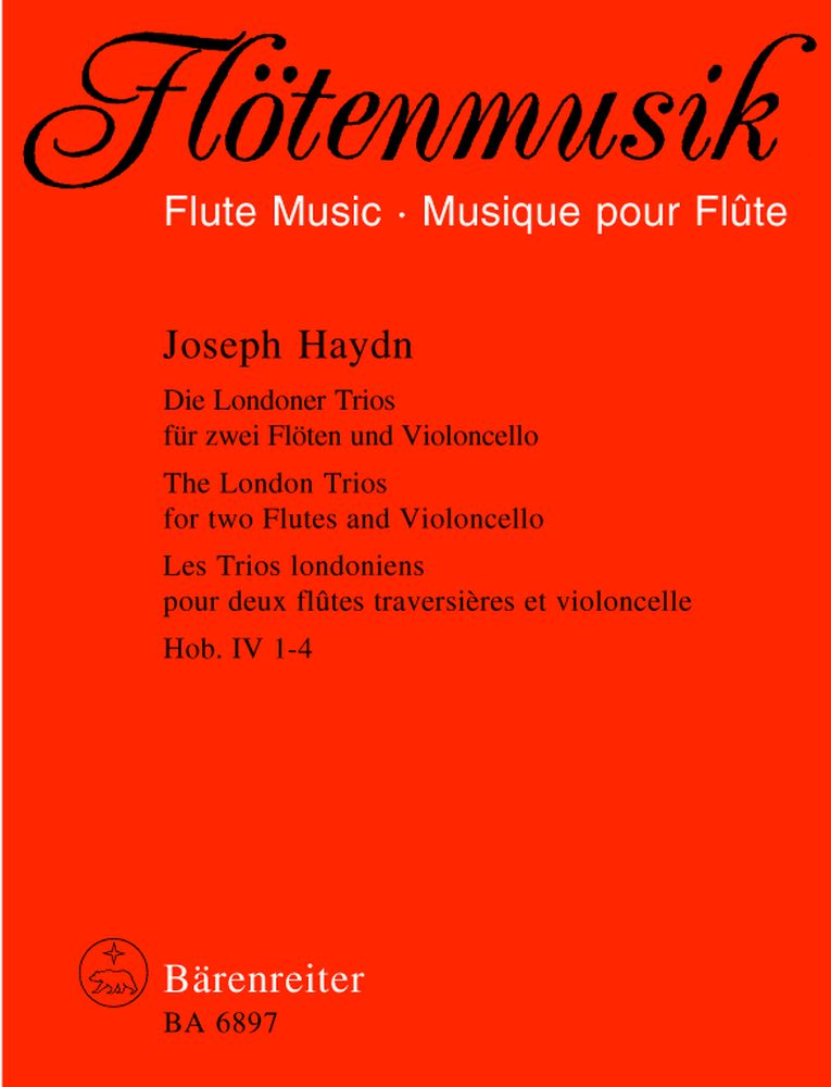 Haydn Joseph - Les Trios Londoniens Hob. Iv: 1-4 - Flute Et Violoncelle