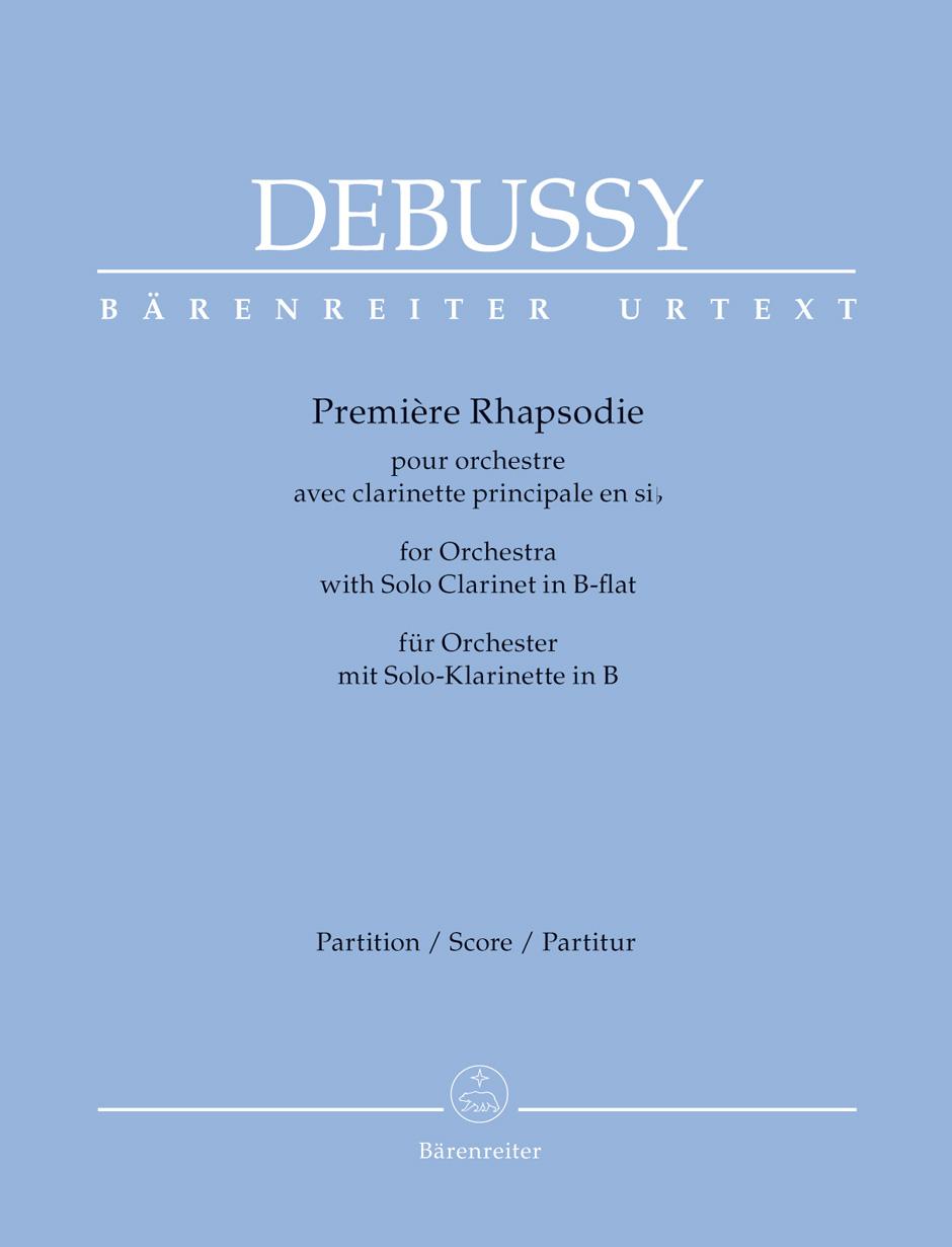 Debussy Claude - Premiere Rhapsodie Pour Orchestre Avec Clarinette Principale En Si - Score