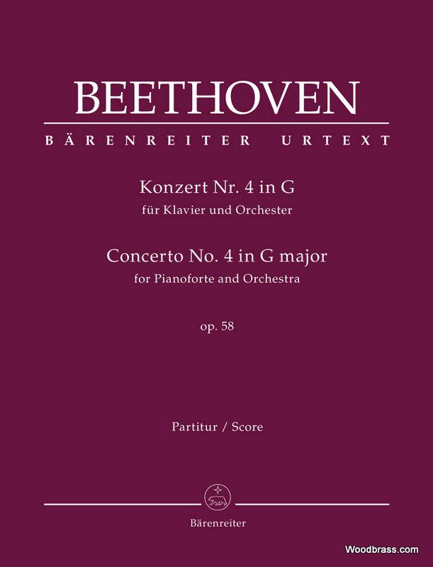 Beethoven L.v. - Concerto For Pianoforte N°4 G Major Op.58 - Score