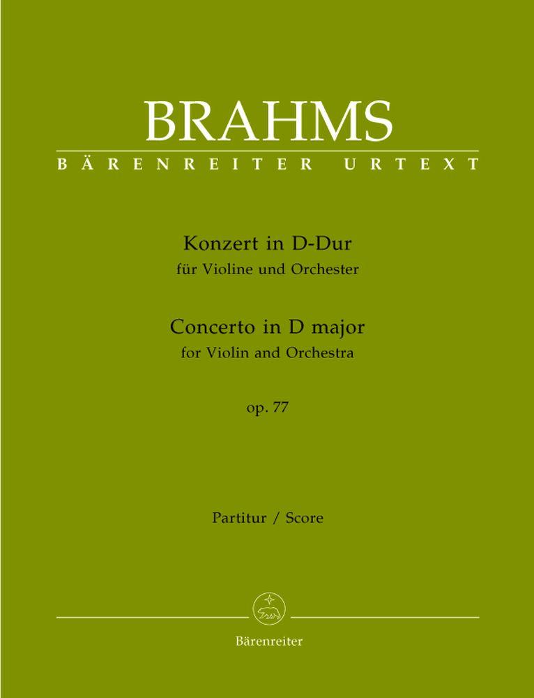 Brahms Johannes - Concerto Pour Violon Re Majeur Op. 77 - Violon Et Orchestre