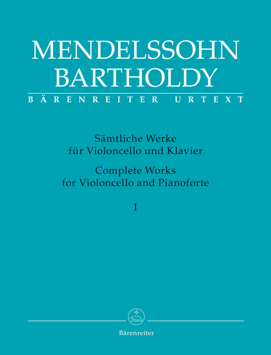 MENDELSSOHN FELIX - COMPLETE WORKS FOR VIOLONCELLE AND PIANOFORTE VOL.1