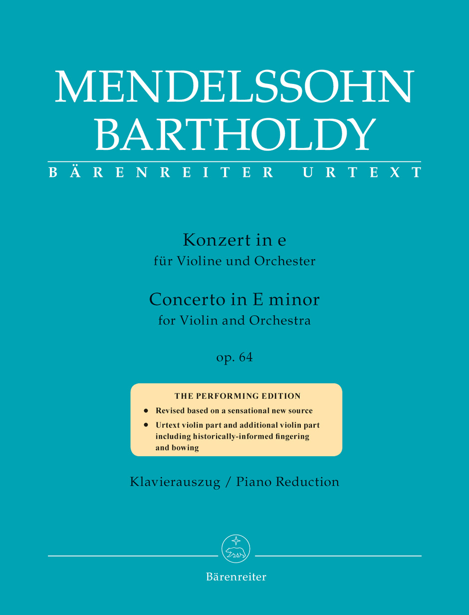 MENDELSSOHN F. - CONCERTO IN E MINOR OP.64 (1845) - VIOLON & PIANO
