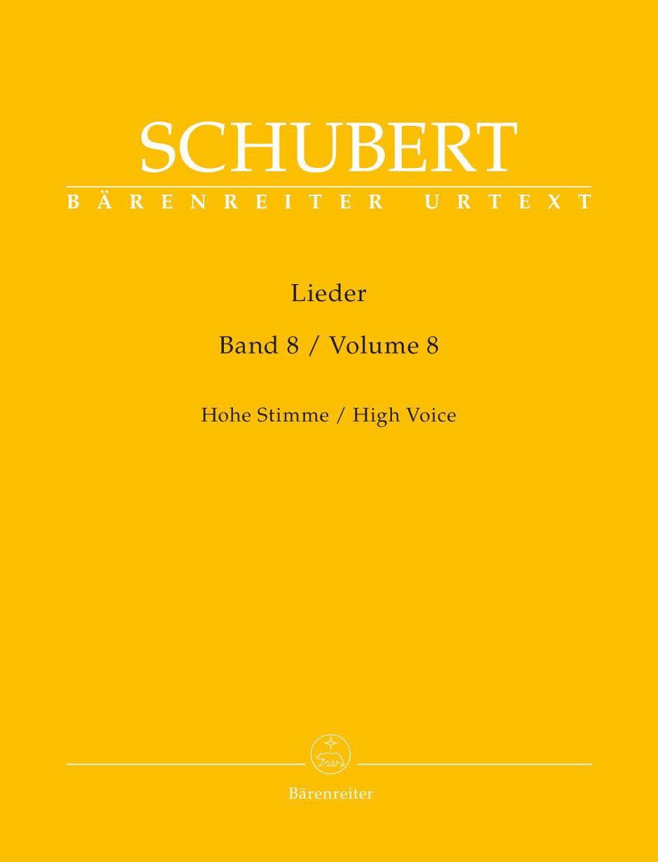 Schubert Franz - Lieder Vol.8 - Voix Haute