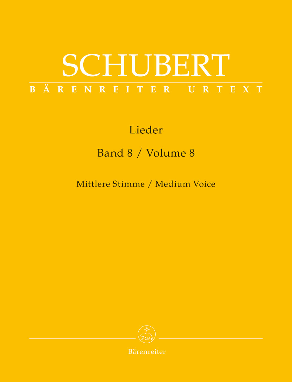 Schubert Franz - Lieder Vol.8 - Voix Moyenne