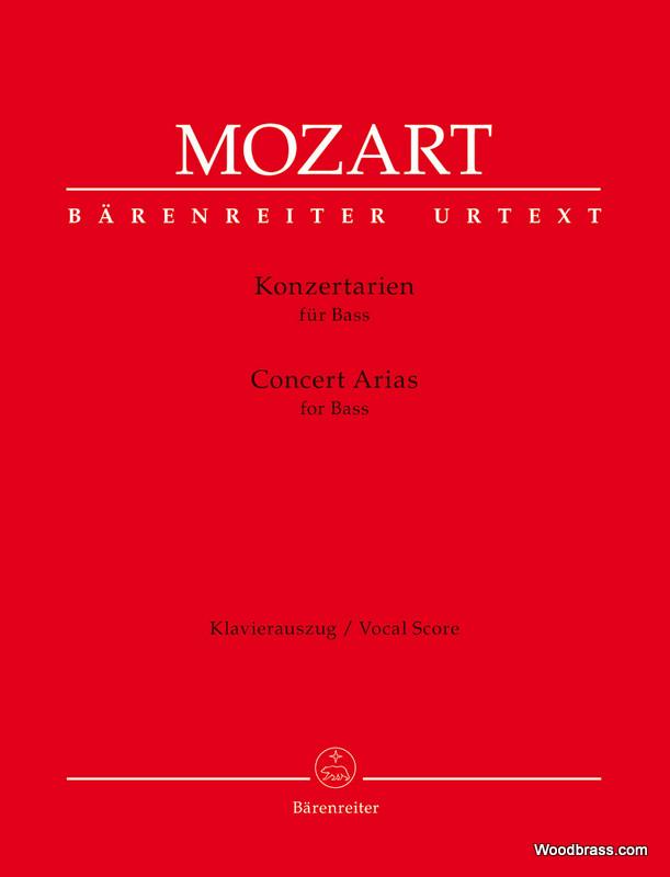 Mozart W.a. - Concert Arias For Bass - Vocal Score