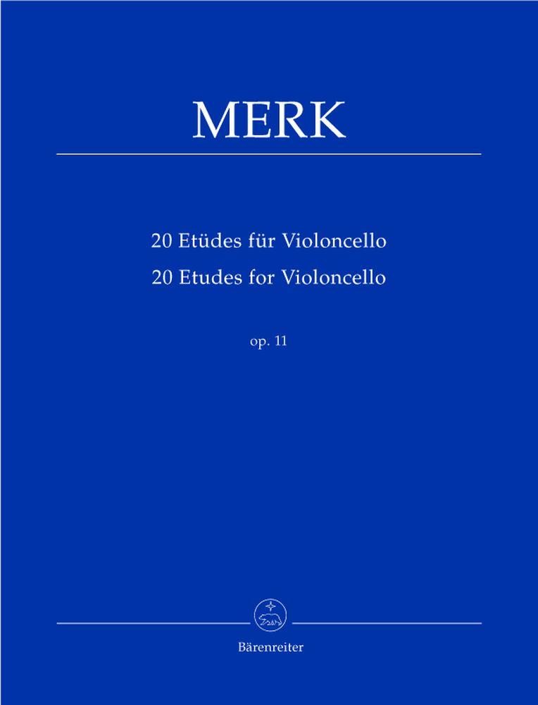 Merk Joseph - 20 Etudes Pour Violoncelle Op.11