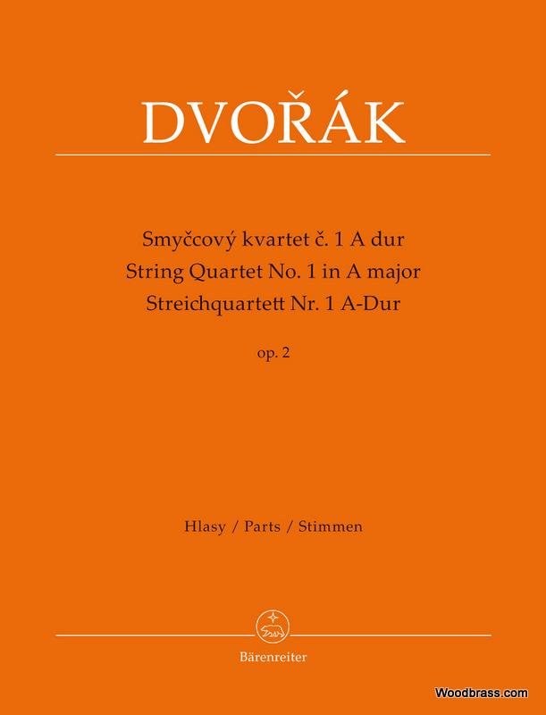 Dvorak A. - Streichquartett Nr.1 A-dur Op.2 - Parties Separees