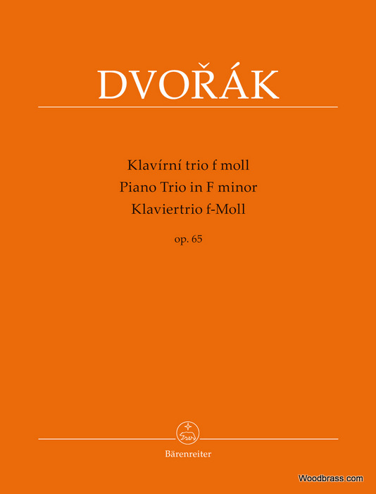 DVORAK A. - PIANO TRIO IN F MINOR OP.65