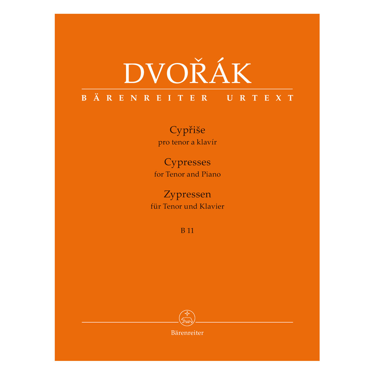 Dvorak A. - Cypresses B 11 - For Tenor and Piano