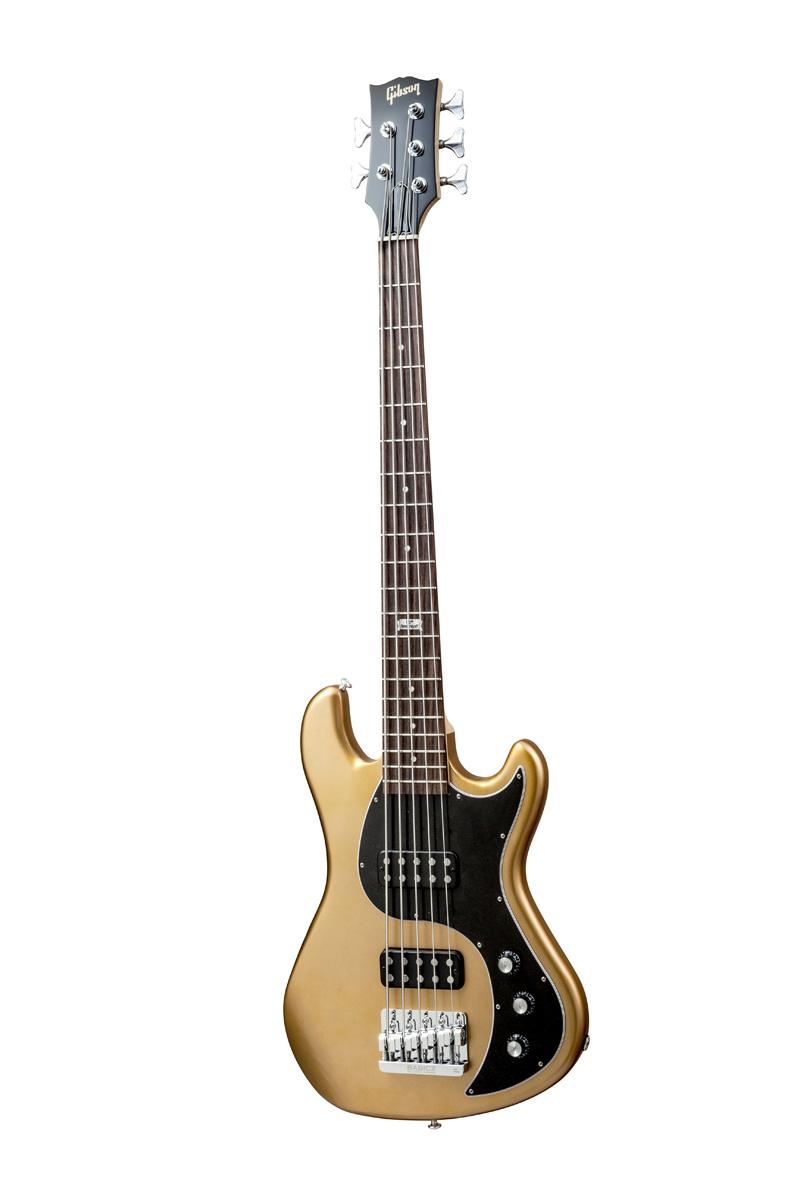 Gibson Eb 2014 5 String Bullion Gold Vintage Gloss Chrome + Etui