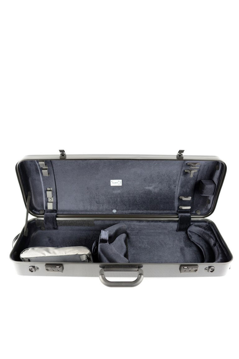 HIGHTECH VIOLA CASE COMPACT SIZE WITHOUT POCKET - BLACK CARBON LOOK