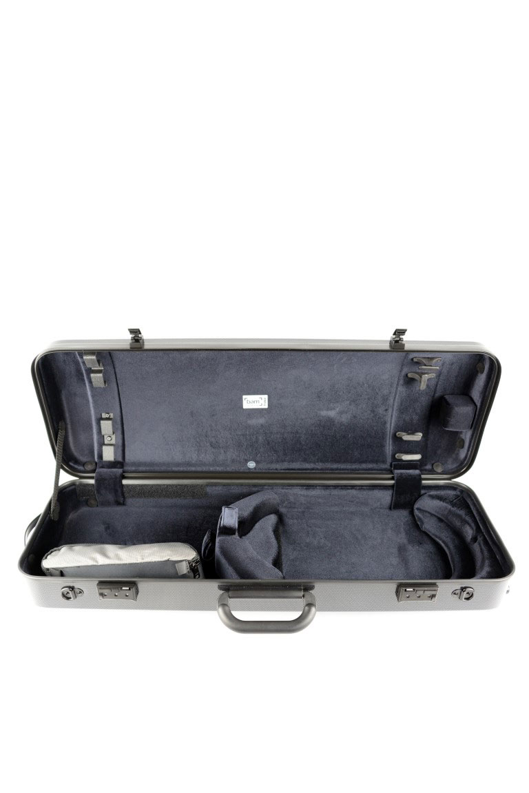 HIGHTECH OBLONG VIOLA CASE COMPACT WITHOUT POCKET - SILVER CARBON