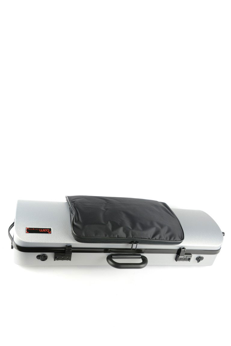 HIGHTECH VIOLA CASE COMPACT SIZE WITH POCKET - METALLIC SILVER