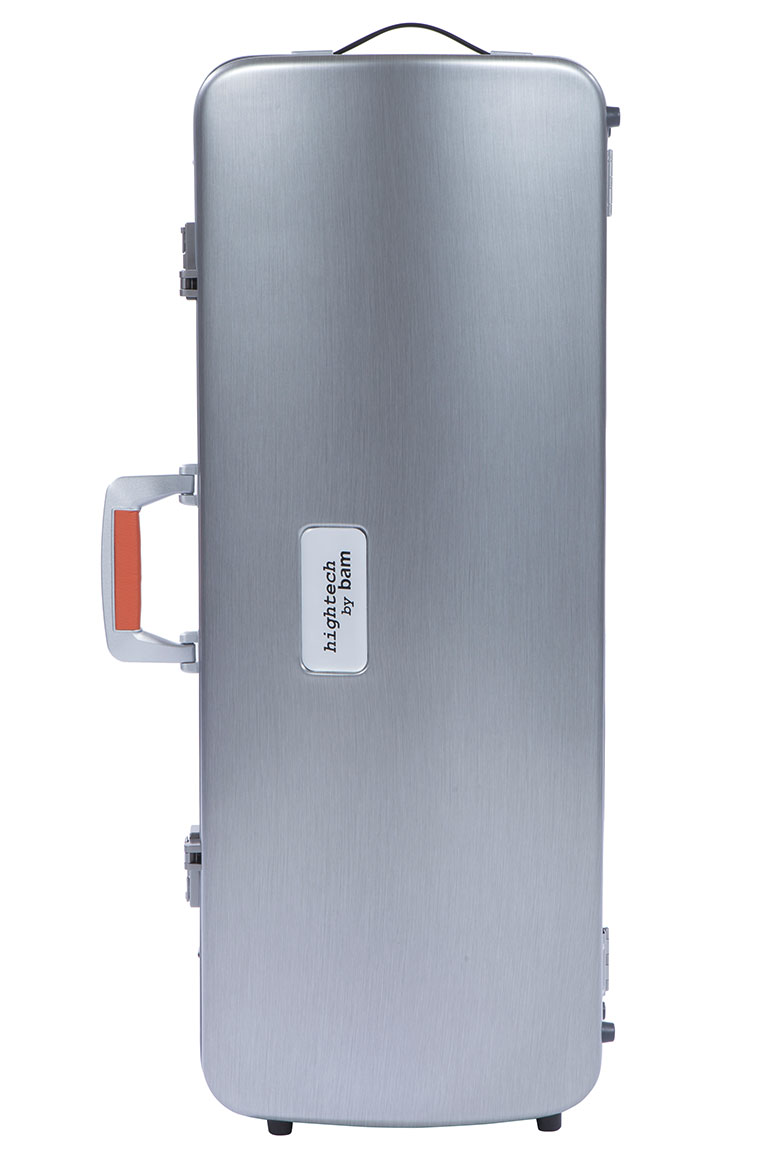 LA DEFENSE HIGHTECH OBLONG VIOLA CASE - BRUSHED ALUMINUM