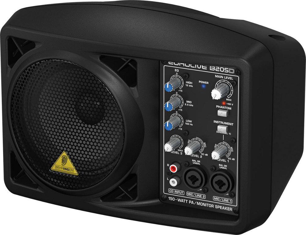 behringer eurolive b205d 150 watt speaker bluetooth. Black Bedroom Furniture Sets. Home Design Ideas