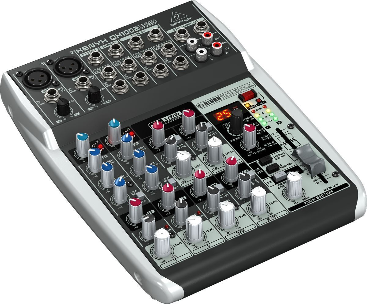 Behringer Xenyx Qx1002usb Console Table Mixer De Mixage Usb 10