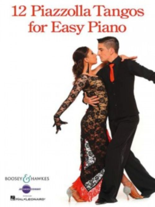 PIAZZOLLA ASTOR - 12 PIAZZOLLA TANGOS FOR EASY PIANO