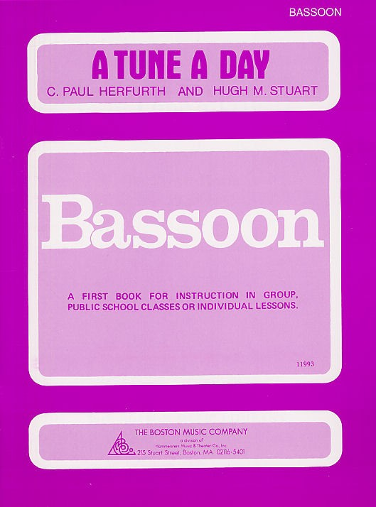 A Tune A Day For Bassoon Book One - Bassoon