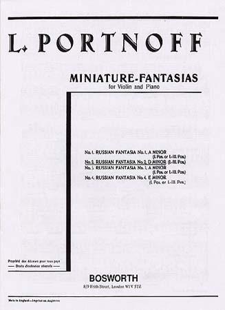 Portnoff - Fantaisie Russe N°2, Re Mineur - Violon / Piano