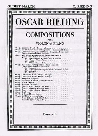 Rieding Oscar - Gipsies' March Op.23 N°2 - Violon, Piano