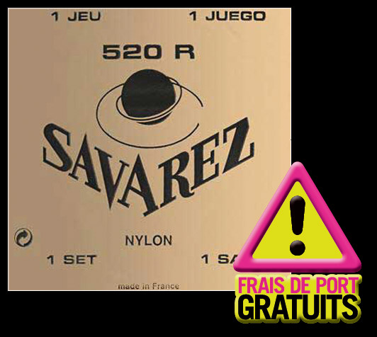 Savarez 12 Jeux 520r Rouge Tirant Normal