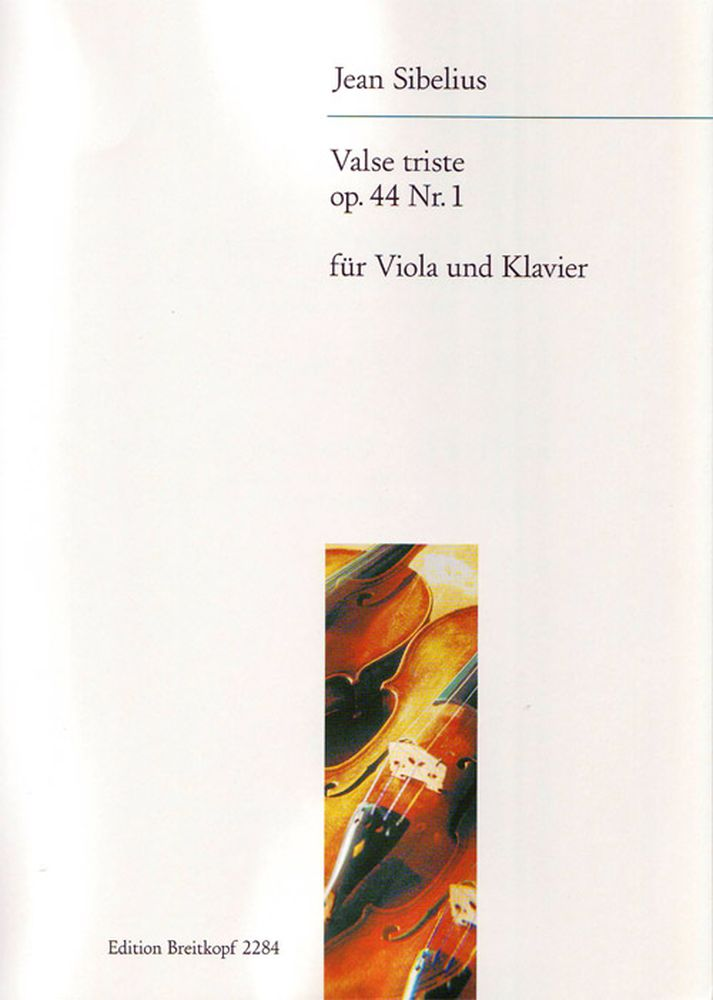 Sibelius J. - Valse Triste Aus Op. 44 - Alto, Piano