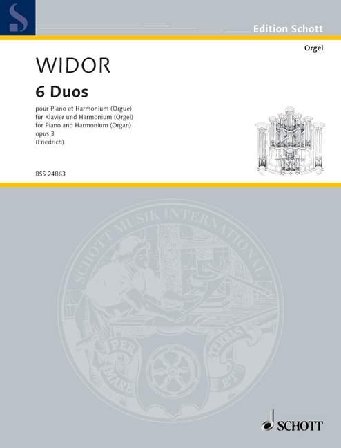 Widor Charles Marie - Six Duets - Piano And Organ