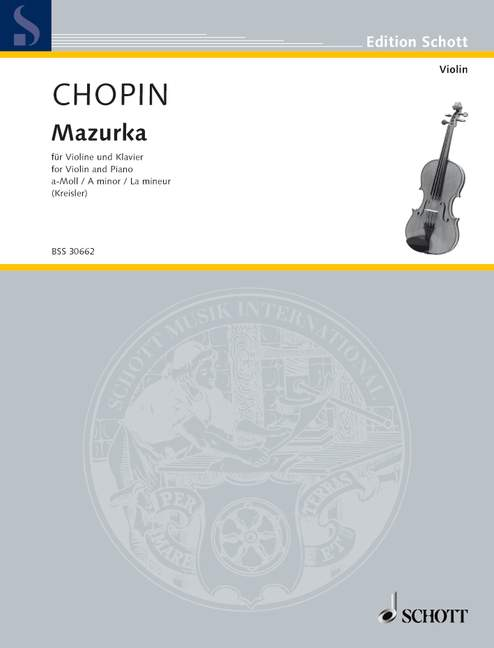 Chopin Frederic - Mazurka A Minor Op. Posth. - Violin And Piano