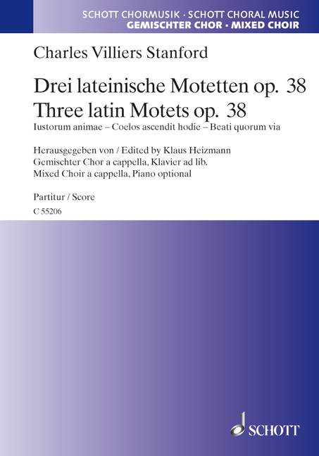 STANFORD C.V. - THREE LATIN MOTETS OP. 38 - VOIX