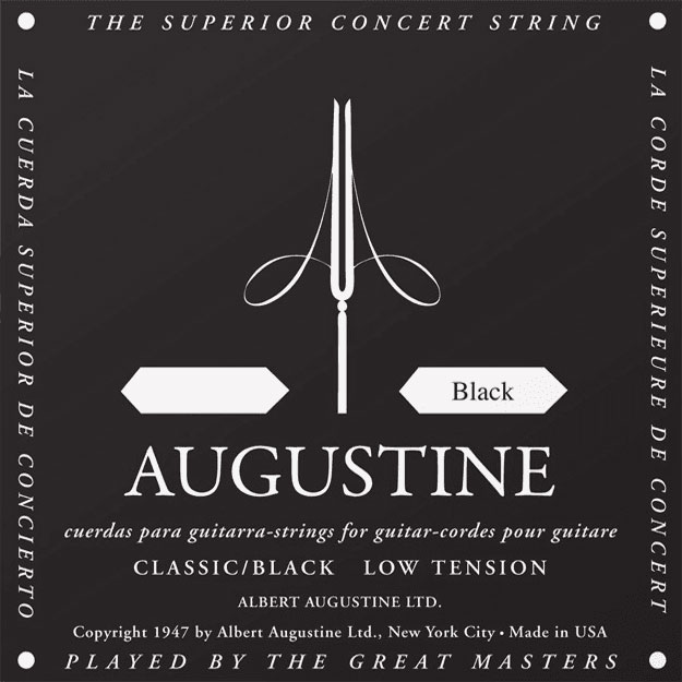 AUGUSTINE CLASSIC STRING STANDARD REPLENISHMENT BY 12 PIECES 4TH NYLON BLACK