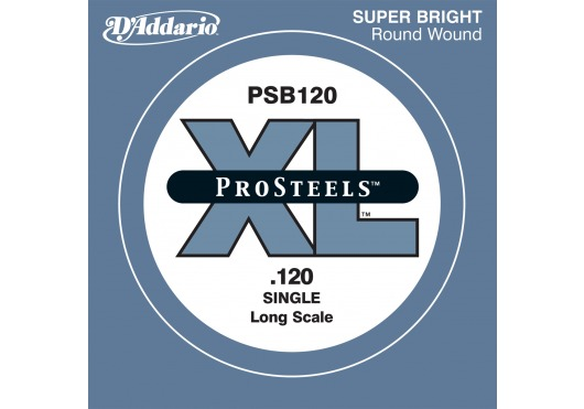 PSB120 PROSTEELS BASS GUITAR SINGLE STRING LONG SCALE .120