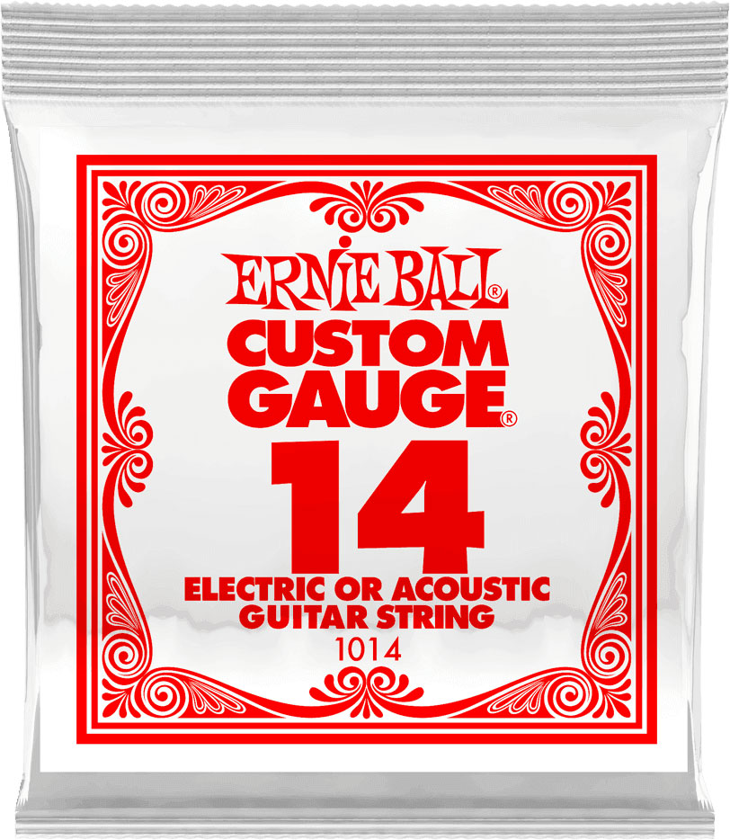 .014 PLAIN STEEL ELECTRIC OR ACOUSTIC GUITAR STINGS
