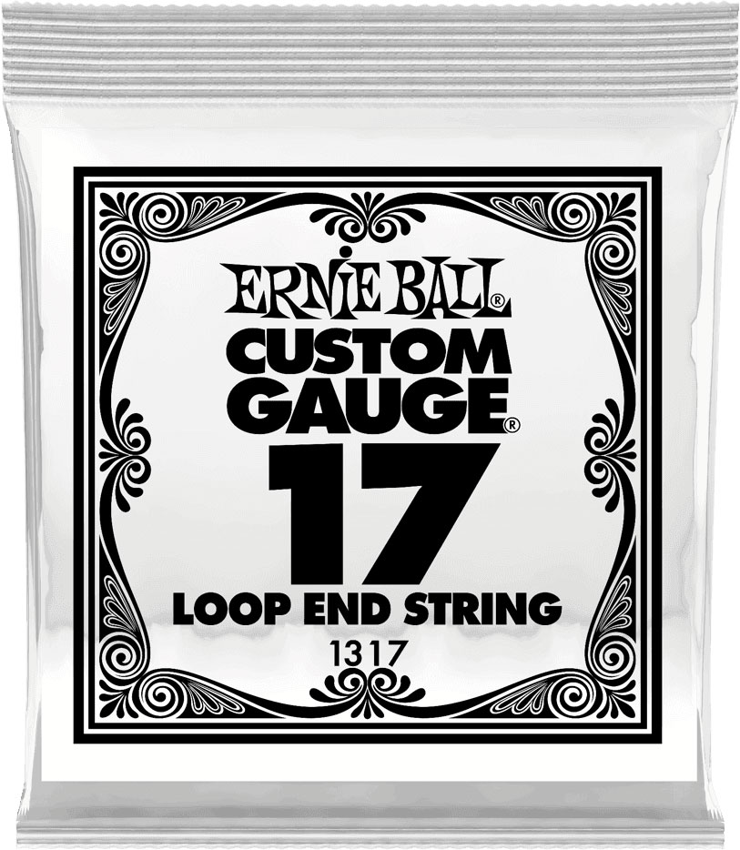 .017 LOOP END STAINLESS STEEL PLAIN BANJO OR MANDOLIN GUITAR STRINGS