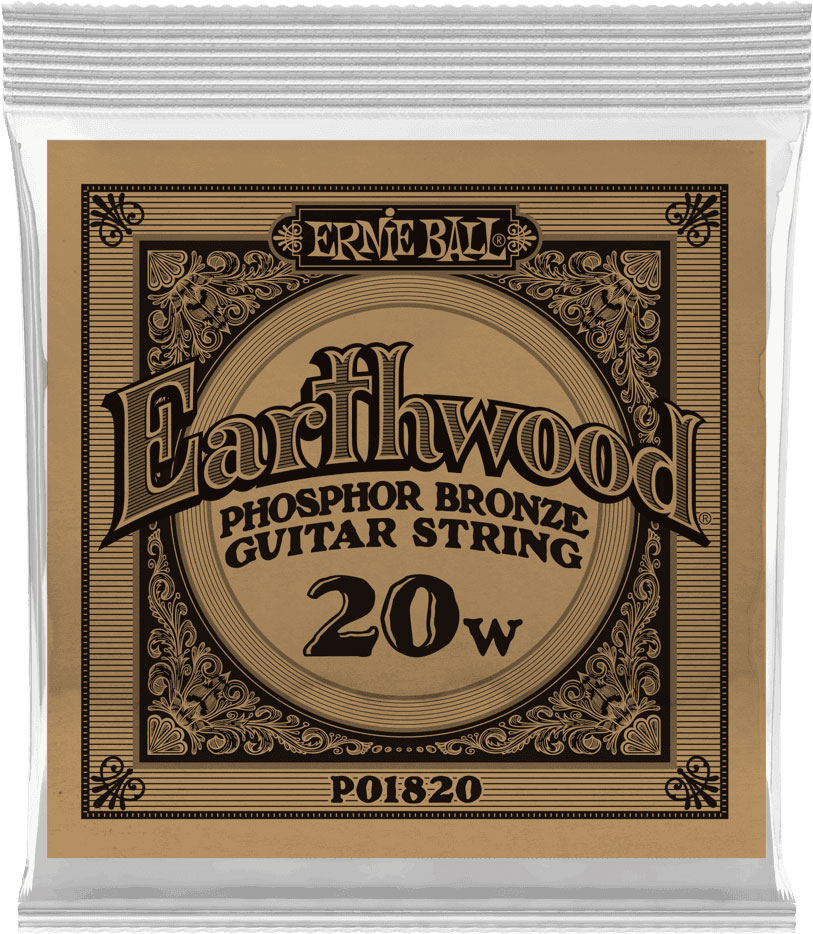 .020 EARTHWOOD PHOSPHOR BRONZE ACOUSTIC GUITAR STRINGS