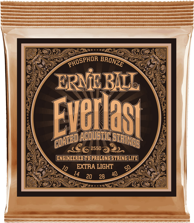 ERNIE BALL EP02550 EVERLAST 10-50 XLIGHT PHOSPHOR BRONZE